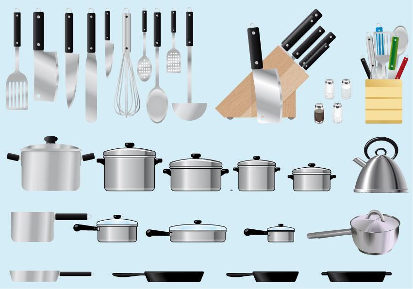 utensili da cucina cooking utensils 3 vettoriali