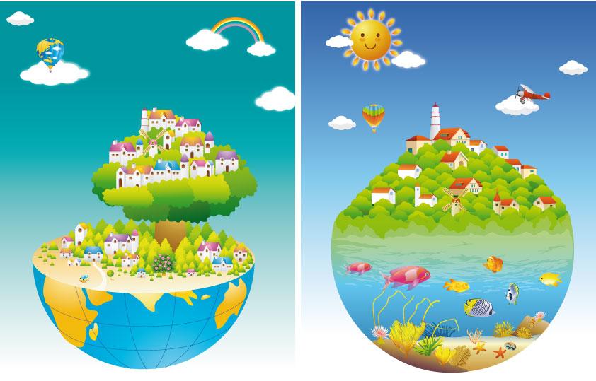Paesaggi particolari particular landscapes vettoriali gratis it