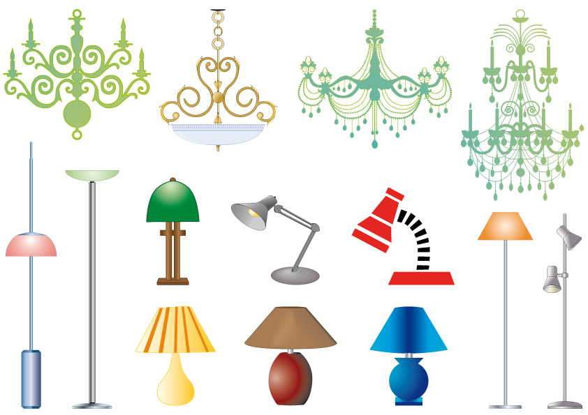 lampadari e lampade ? chandeliers and lamps Vettoriali ...