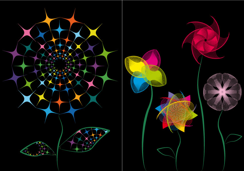 Fiori astratti – abstract flowers