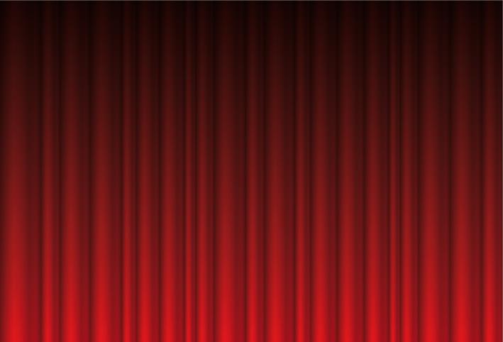 Sipario Rosso Red Curtain Background Vettoriali Gratis