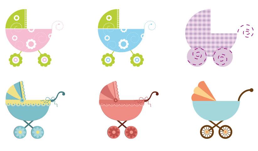 Molto 6 passeggini per bambini – baby strollers | Vettoriali Gratis.it  DV95