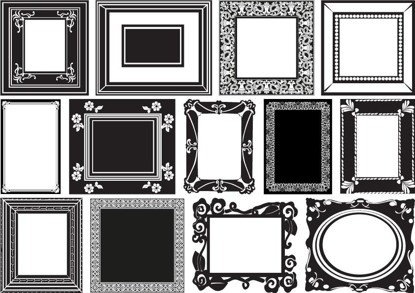 13 cornici in bianco e nero  u2013 white and black frames