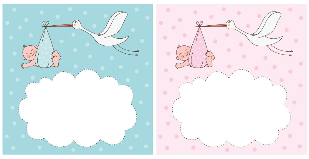 Neonati con cicogna newborns with stork vettoriali gratis it
