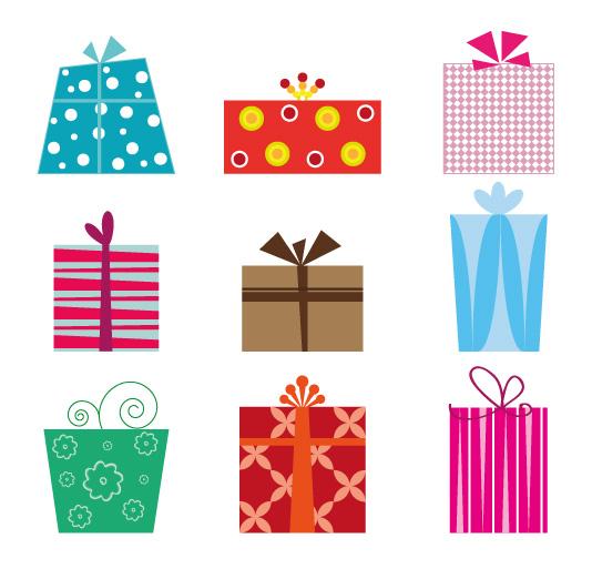 9 scatole regali gifts vettoriali free vectors for Sito regali gratis