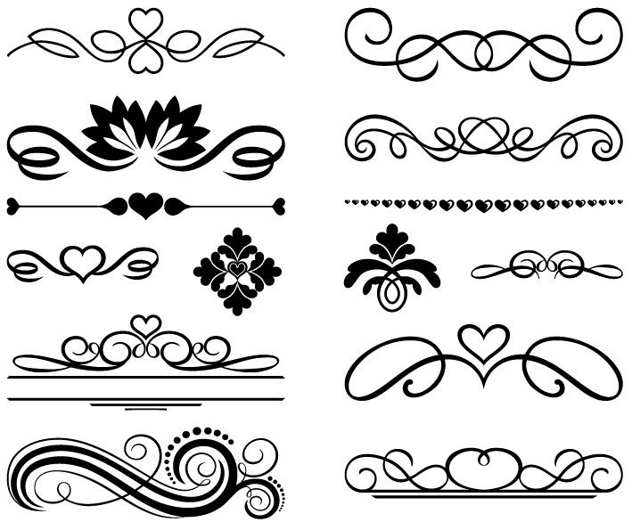 Pin download decorare con bordi e cornici in design - Decorazioni cuori ...
