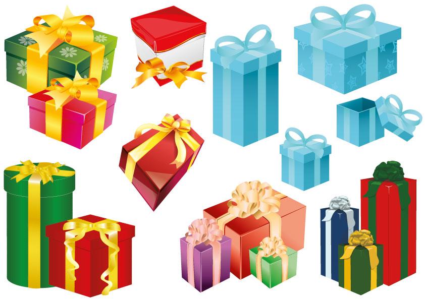 16 scatole regali gifts boxes vettoriali for Sito regali gratis
