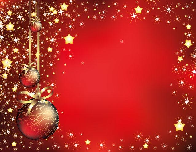 Sfondo natale rosso palline red christmas background for Natale immagini per desktop