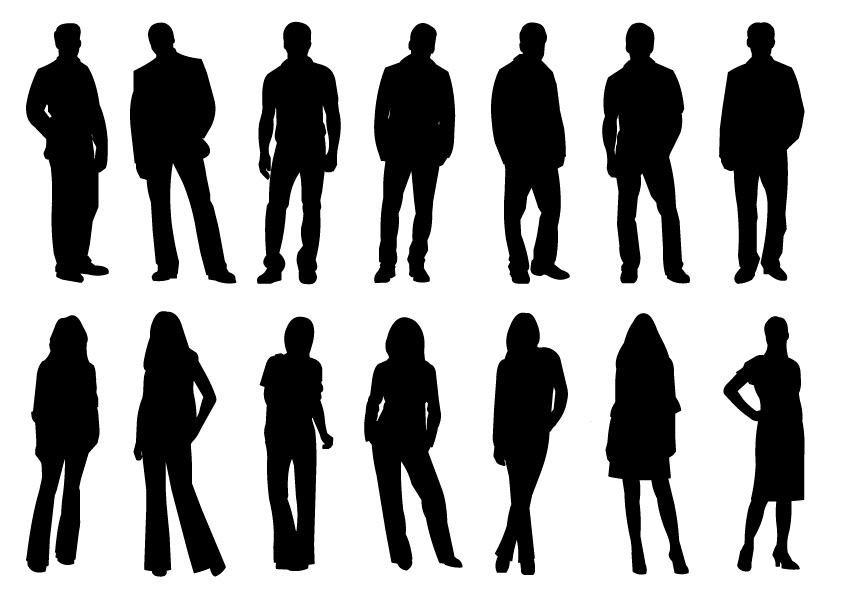 Immagini Sagome Persone.14 Sagome Persone People Silhouettes Vettoriali Gratis