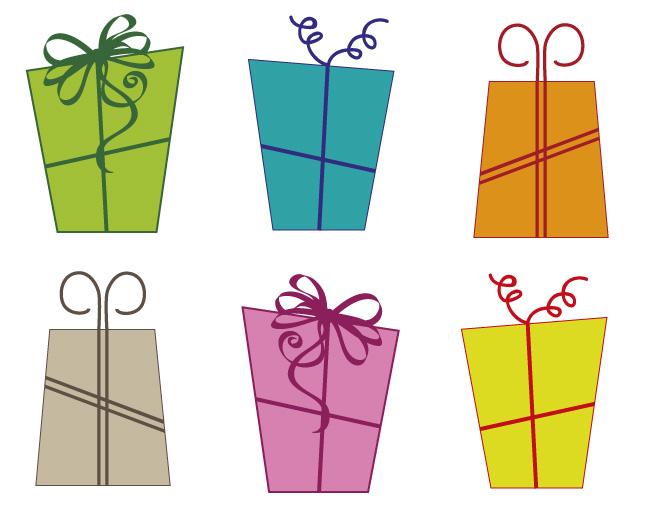 6 scatole regalo gift boxes vettoriali free for Oggetti in regalo gratis