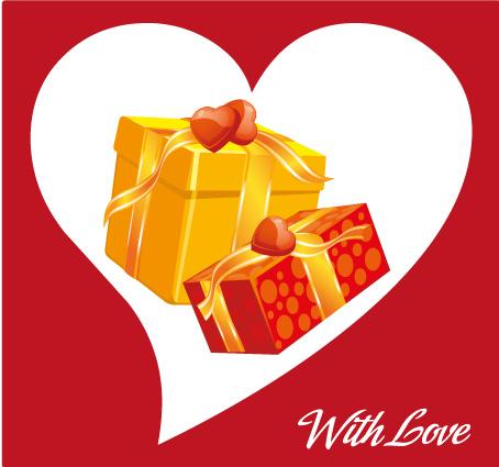 Biglietto amore 2 regali love card 2 gifts vettoriali for Sito regali gratis