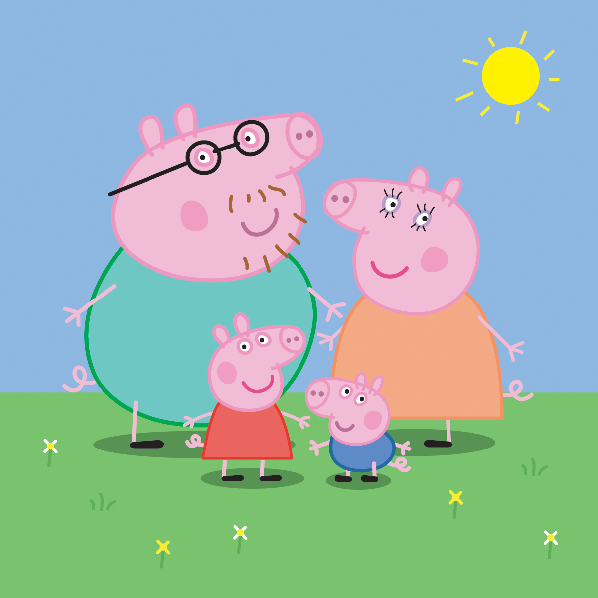 peppa and children Peppa is a loveable, cheeky little piggy who lives with her little brother george, mummy pig and daddy pig.