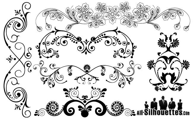Decorazioni floreali design floral ornaments - Decorazioni vintage ...