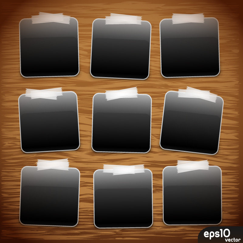 9 cornici foto polaroid photo frames vettoriali free vectors. Black Bedroom Furniture Sets. Home Design Ideas