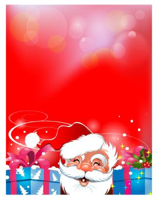 Babbo natale regali santa claus face gifts vettoriali for Sito regali gratis