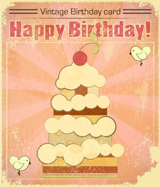 Card torta compleanno vettoriali gratis it free vectors