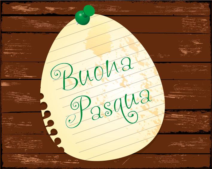 Buona pasqua uovo notes happy easter egg