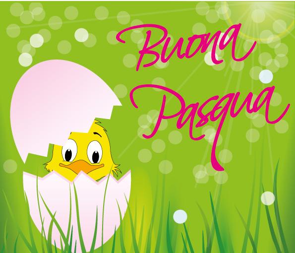 Buona pasqua pulcino in uovo easter chick egg