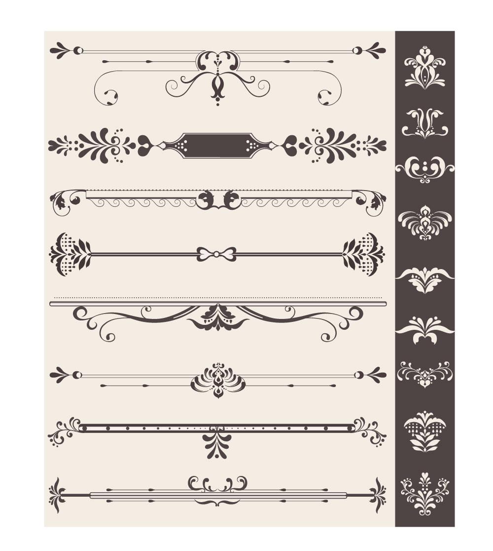 Decorazioni bordi vintage ornaments with borders - Decorazioni vintage ...