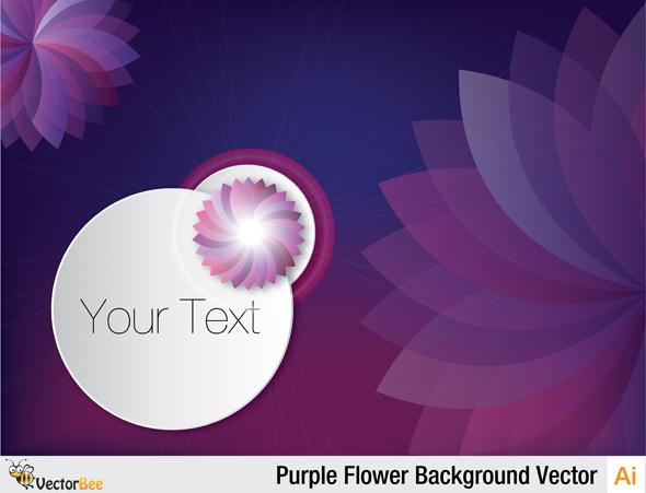 Sfondo Fiori Viola Purple Flower Background Vettoriali Gratisit