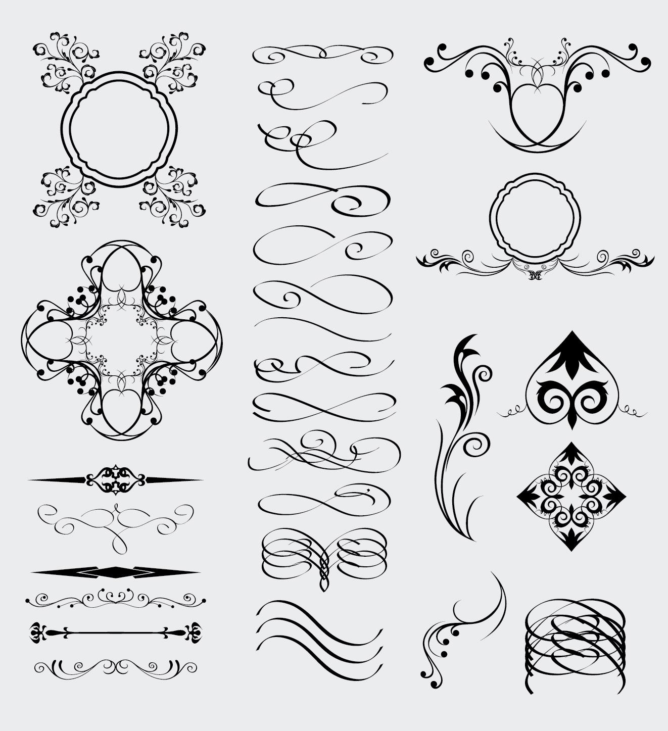 28 elementi decorativi decorative celtic gothic arabic for Greche decorative