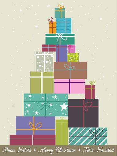 Albero natale regali christmas tree gifts vettoriali for Sito regali gratis
