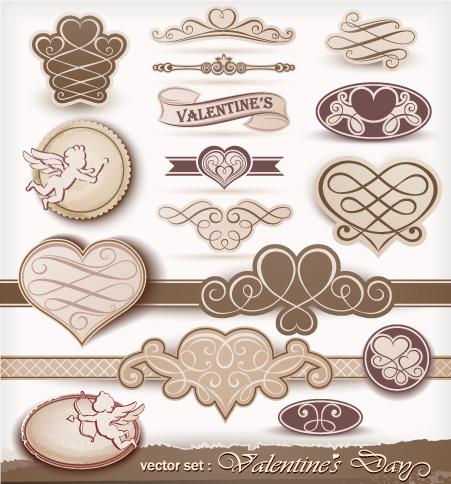 16 decorazioni san valentino beige valentine day labels - San valentino decorazioni ...