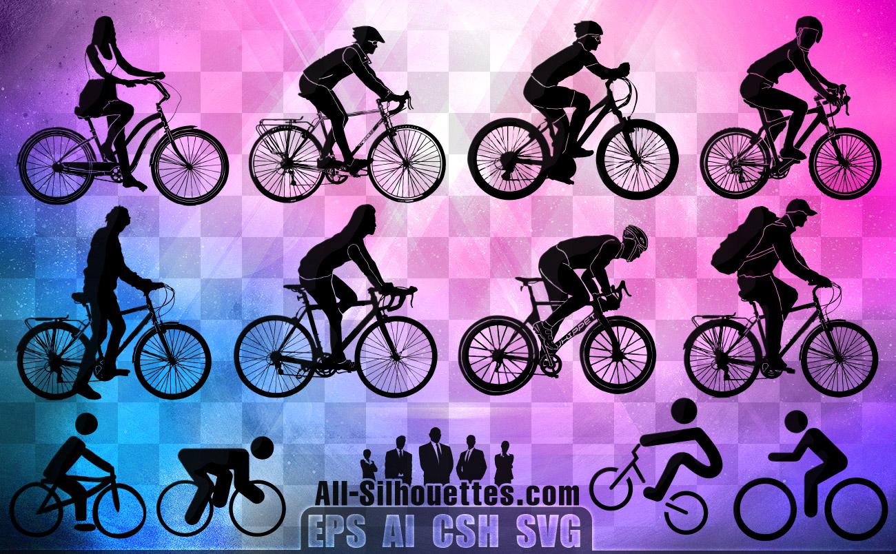 Ciclisti Bicicletta Bicyclist Vettoriali Gratisit Free Vectors