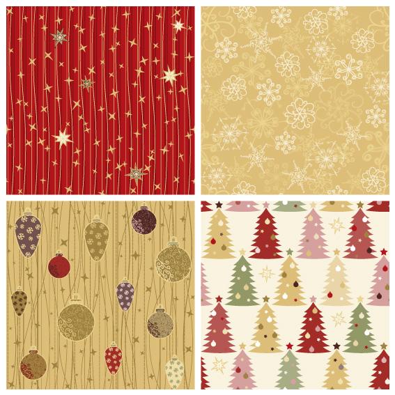 Immagini Natalizie Vettoriali.4 Pattern Natale Cute Christmas Pattern Vettoriali Gratis It