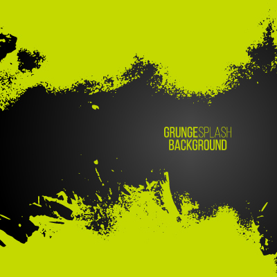 Sfondo Verde Grunge Green Paint Splash Frame Background