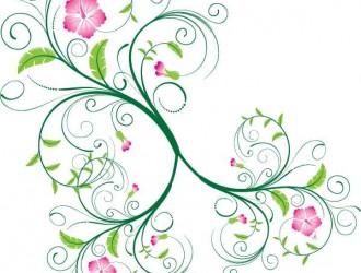 decorazione con fiori a spirale – ornament swirl floral