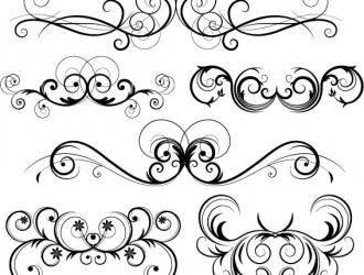 decorazione con spirali – swirly ornament