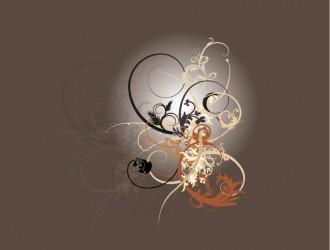 ornamento floreale a spirale – floreal swirly ornament