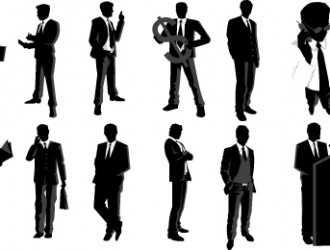 sagome di uomini d'affari – business man sillhouette