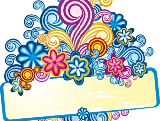 banner floreale – swirly floral banner