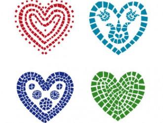 cuori a mosaico – mosaic hearts