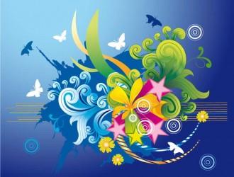 fiori, stelle, farfalle – flowers, stars, butterflies