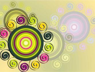 sfondo con cerchi e spirali – swirl circle background