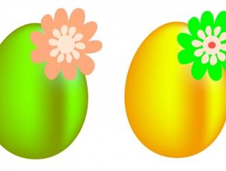uova di Pasqua floreali – floral Easter eggs