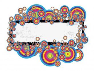 banner con cerchi colorati – colored round banner