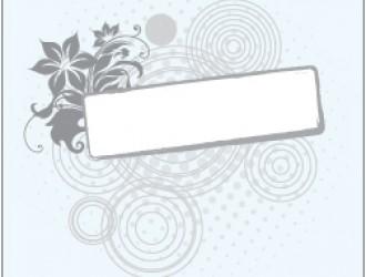 banner con fiori e cerchi – floral banner with circles_1