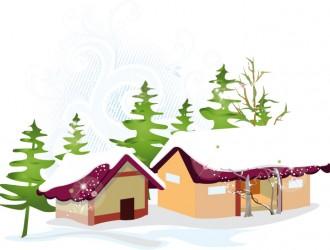 case innevate – snowy houses