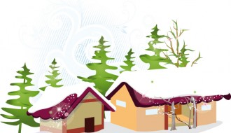 case innevate – snowy houses