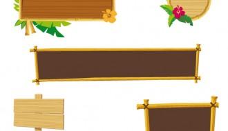 cornici e banner di legno – wood frame and banner