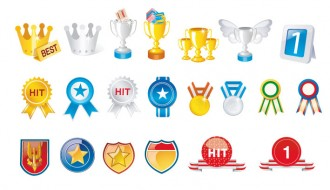 medaglie e coppe – badges and prizes