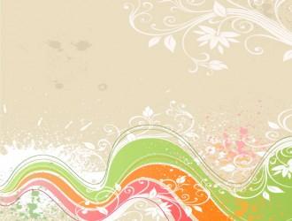 sfondo grunge floreale – floral grunge vector_1