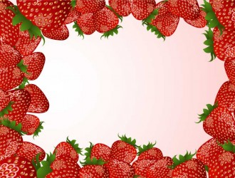 cornice di fragole – strawberries frame