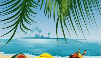 frutta estiva sul mare – summer fruit with sea