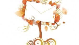 albero autunnale con lettera – autumn tree with letter