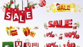 etichette saldi natalizie – Christmas sale labels